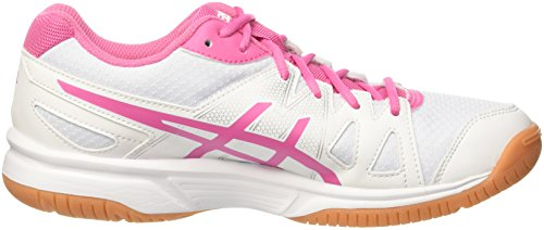 Asics Volleyball azalea Pink Upcourt white Chaussures Femme De Blanc white aqargTB