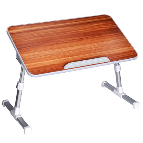 [Standard Size] Neetto Adjustable Bed Table, Portable Laptop Standing Desk, Foldable Sofa Breakfast Tray, Notebook...