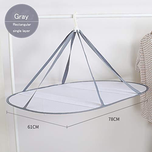 (Sunlightam Folded Mesh Clothes Hanging Dryer T-Shirt/Sweater Drying Rack (Rectangular Single Layer))