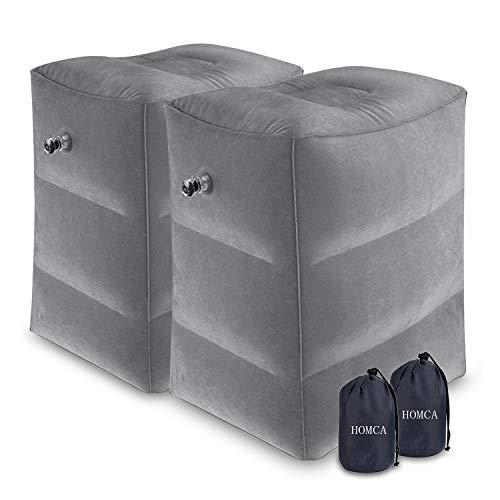 HOMCA 2 Pack Travel Foot Rest Pillow,