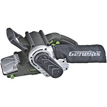 Genesis GBS321A 3-Inch-by-21-Inch Variable Speed Belt Sander with Cloth Dust Bag, Grey