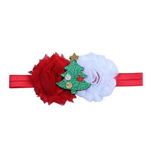 haoricu Baby Hairband, 2017 Cute Infant Baby Christmas Santa Flower Hair Accessories Bow Headwear (❤️B)