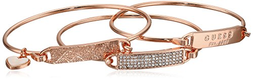 Guess Gold Bangles (Guess 3 Piece Tension ID Rose Gold Bangle Bracelet)
