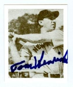 Autograph Warehouse 73982 Tom Henrich Autographed Baseball Card New York Yankees 1948 Bowman Reprint No . 19 1987 (1948 New York Yankees)