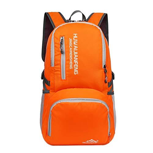 Car accessories - 40L Folding Waterproof Bag Ultralight Unisex Shoulder Straps Outdoor Traveling Climbing Sport Foldable Nylon Backpack - Backpack Nylon Fsu