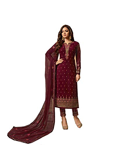 (Delisa Indian/Pakistani Fashion Salwar Kameez for Women 01 (Purple,)