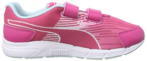 Puma Sequence V Kids - Zapatillas de Deporte de material sintético Infantil Rosa (beetroot purple-clearwater 06)