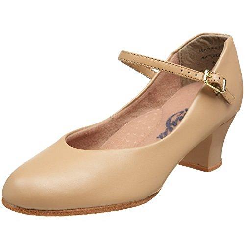 Capezio Women's Jr. Footlight Character Shoe,Caramel,5 M US