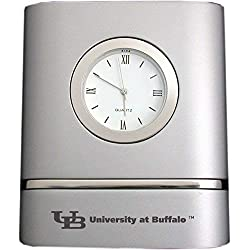 University at Buffalo, The State University of New York- Two-Toned Desk Clock -Silver