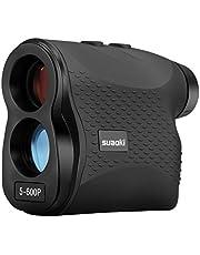 SUAOKI Entfernungsmesser, LR600P Rangefinder, Lasermessgerät mit 6-facher Vergrößerung Abstandmessung 5~600m/±1m, Geschwindigkeitsmessung 0~300km/h, wasserdicht Schutzklasse IP54, für Golf, Jagd