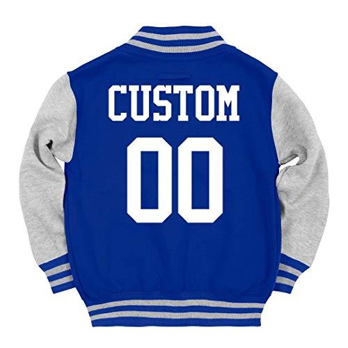 Custom Kids Varsity Jacket Name Number: Youth Varsity Letterman Jacket