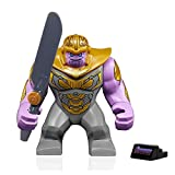 LEGO Marvel Avengers Endgame Minifigure - Thanos (with Armor and Sword) Display Stand 76131