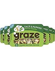 Graze Sea Salt & Pepper Veggie Protein Power Groente- en Notenmix Snack, 6 x 28 g