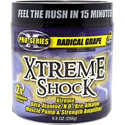 Advance Nutrient Science Xtreme Shock Radical Grape 45 Servings - 8.8 oz (250g) by ANSI