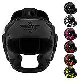 Elite Sports MMA Sparring Boxing Head Gear (Black)