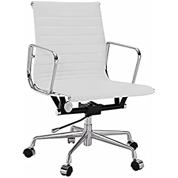 eames office chair replica. Plain Eames Eames Style Aluminum Group Management Office Chair Reproduction Leather  White In Replica