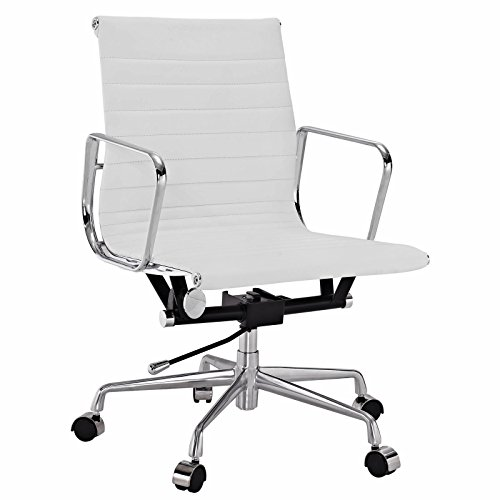 Eames Style Aluminum Group Management Office Chair Reproduction Leather (Aluminum Group Chair)