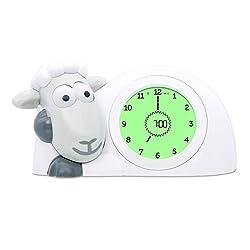 Zazu Kids SAM Sleep Trainer Alarm Clock and Nightlight NEW FEATURES(Grey)