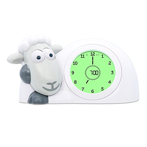 Zazu Kids SAM Sleep Trainer Alarm Clock and Nightlight NEW FEATURES(Grey)