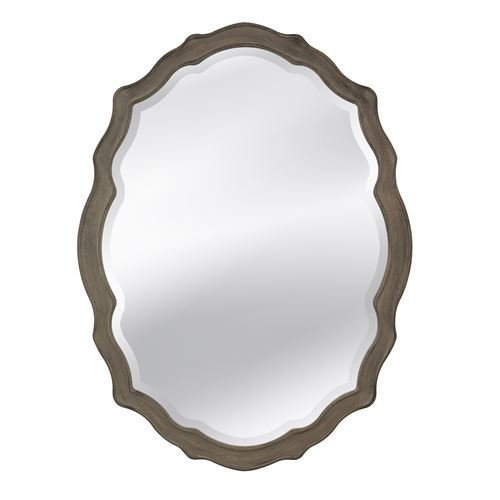Bassett Mirror M3702BEC Barrington Wall Mirror, Distressed Grey ()