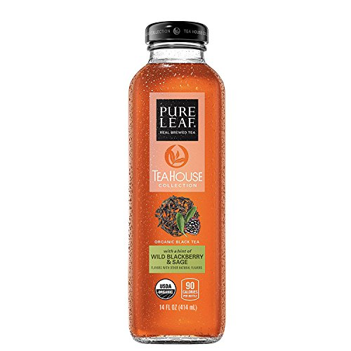 - Pure Leaf Tea House Collection, Organic Iced Tea, Wild Blackberry & Sage, 14 Ounce, 8 Bottles