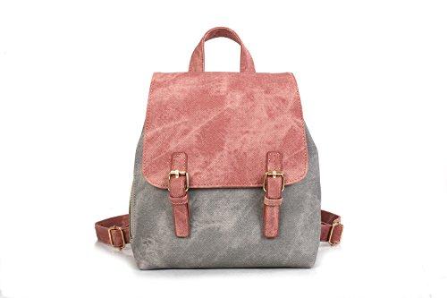 Deporte Escuela Viaje Mujer de Moda de Ocio Bolso de la Cuero Backpack Rosa Mochila de Mochila de Señoras PR1wqPd