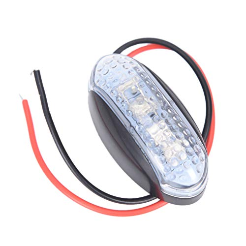 12V/24V Car Trailer Truck Side Marker Indicator Light Lamp Front Rear Side Light Waterproof Universal for Car Trailer Truck: