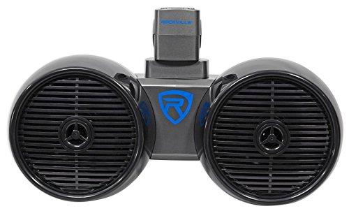 Rockville DWB65B Dual 6.5' Black 600 Watt Marine Wakeboard Tower Speaker System