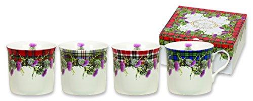 Heath Thistle (Heath McCabe Mugs Countess Thistle Tartans Fine China 4 Mug Gift)