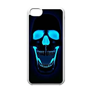Popular And Durable Designed TPU Case With Bloody The Punisher Skull Logo_006 For iphone 5c Cell Phone White Cover