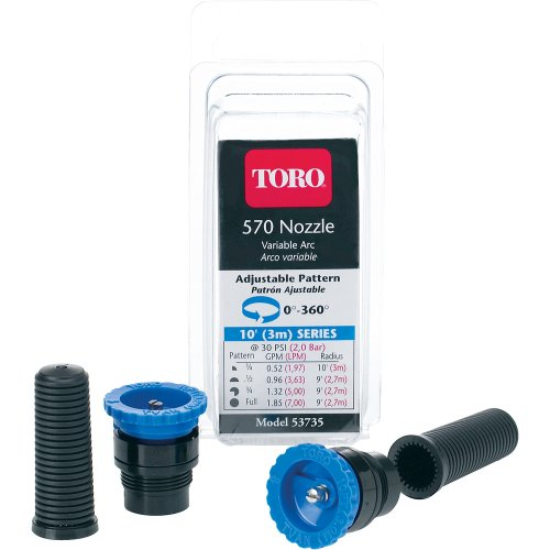 Sprinkler Head Replacement (Toro 53735 Adjustable Underground Sprinkler Nozzle 10-Foot Spray)