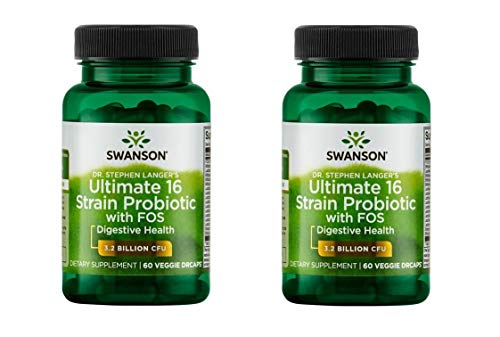 - Swanson Dr. Stephen Langer's Ultimate 16 Strain Probiotic with Fos 60 Veg Caps (Pack of 2)