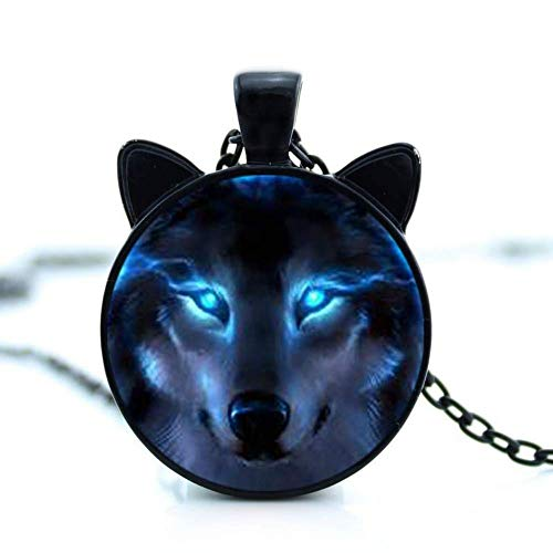 Soul Statement Wolf Charm Necklace Chain Pendant (Wolf) -