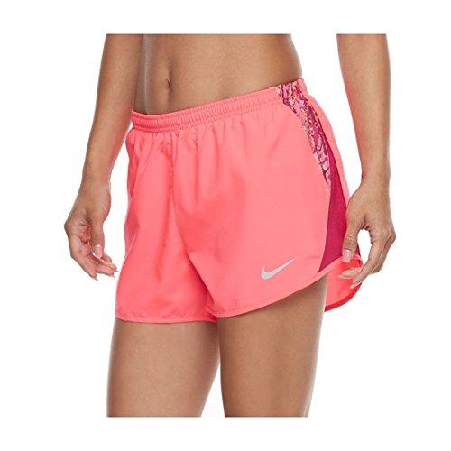 NIKE women's Dry Mesh Inset Running Shorts 849398 617 size L