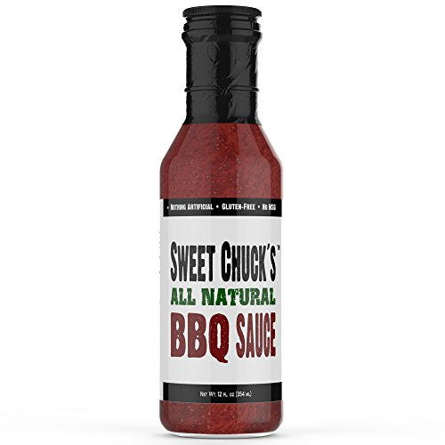 NEW Sweet Chuck's All Natural Original Sweet & Spicy BBQ Sauce, Real Sugar, Gluten-Free, 12oz