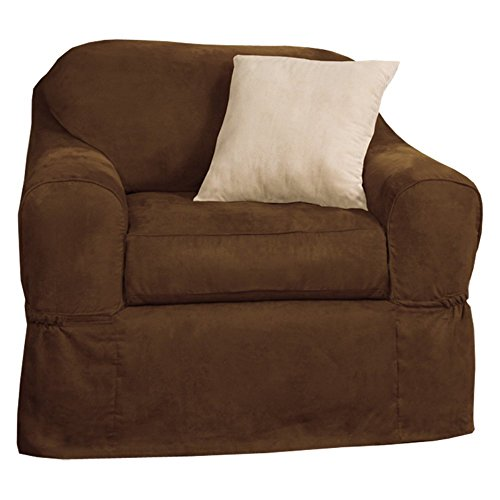 Maytex Piped Suede Two Piece Patented Chair Slipcover