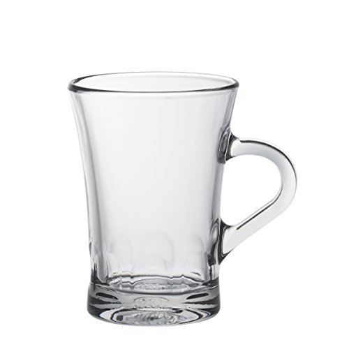 Duralex Made In France Amalfi 6 Oz Clear Espresso Mug, Set of 6
