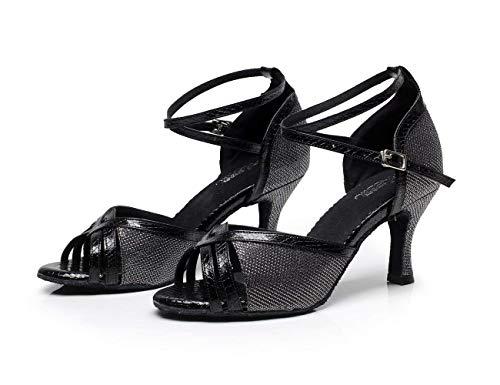 5cm Zapatos Para 5cm Moderno Latina Eu41 Tacones Té Jazz Púrpuraalzado7 Willsego samba uk7 calzado Salsa Mujer tango Baile Blackheeled7 Sandalias Our42 De Altos dtxqT