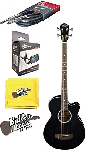 Oscar Schmidt OB100B Acoustic-Electric Bass with Gig Bag, Effin Tuner and More by Oscar Schmidt
