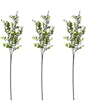 ZHIIHA 3pcs Faux Eucalyptus Leaves Spray Artificial Eucalyptus Branches Plants Artificial Greenery Stems for Greenery Floral Arrangement Wedding Party Decoration (3 Branches)