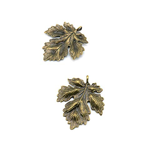 - Price per 40 Pieces Antique Bronze Tone Jewelry Charms Findings Arts Crafts Beading Making Charmes I6AZ6X Life String Oak Big Leaf