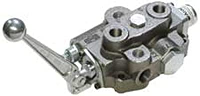 """CROSS Manufacturing 131135 SBA Series Cast Iron Single Spool Monoblock Hydraulic Directional Control Valve, 3-Position, 4-Way, Open Centered, 3/4"""" x 3/4"""" x 1/2"""" NPT Female, 2500 psi, Grey by CROSS Manufacturing"""