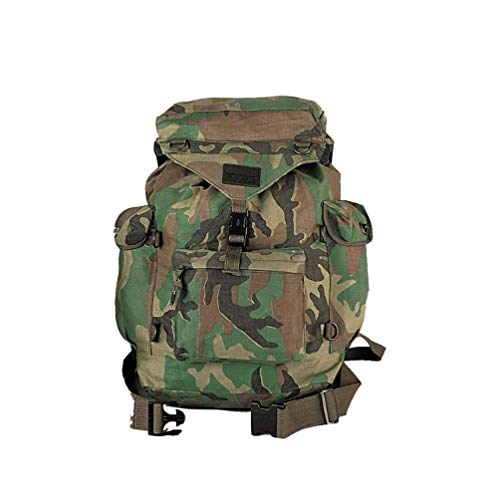 Woodland Forest Camo Army Military Airsoft Canvas Outdoorsman Rucksack Backpack
