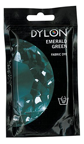 -  Dylon Hand Fabric Tie Dye used Worldwide by Best Designers, Multi-Purpose, Suitable for Small Natural Fabrics, Permanent and Easy to Apply, Color: Emerald Green, Size: 1.76 oz (50 grams)