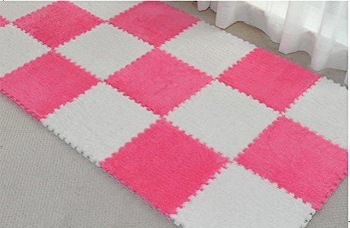 Belimely Diy Mosaic Floor Mats Bedroom Living Room Tatami Foor Mats Pad Crawling Puzzle Wool Suede - Nerd Diy
