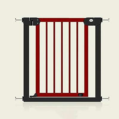 LIZIWL Barreras para Puertas y escaleras Puerta de Seguridad para niños Barandilla de Escalera Valla para Mascotas Valla para Perros Puerta de Aislamiento 76-83cm Color Madera y Caoba (Color : B): Amazon.es: