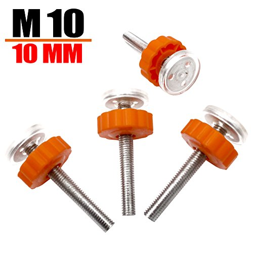 Baby Gates Threaded Spindle Rods - M10 Accessory Baby Gate Parts Pressure Mounted Baby Gate Parts Screw Bolts Kit (4 Pcs, 10 mm) By Apoulin