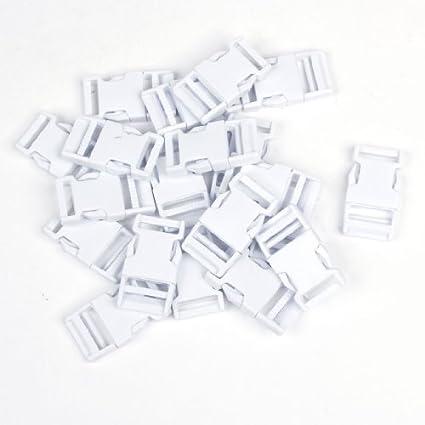Amazon.com: eDealMax lateral plástico Hebilla de liberación rápida de reemplazo 20pcs 24mm Blanca: Home & Kitchen