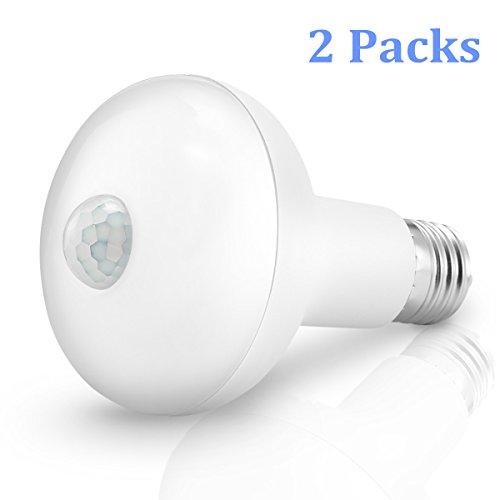 Kingso Motion Light Bulb,E27 9W PIR Infrared Motion Senso...