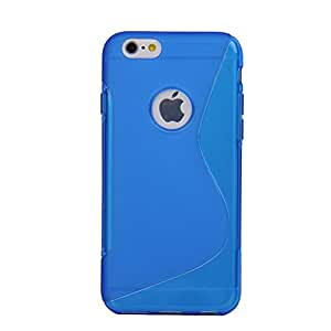 Unique S Style Protective Back Cover Shell Skin Case Cover For iPhone 6 5.5inch(Blue)